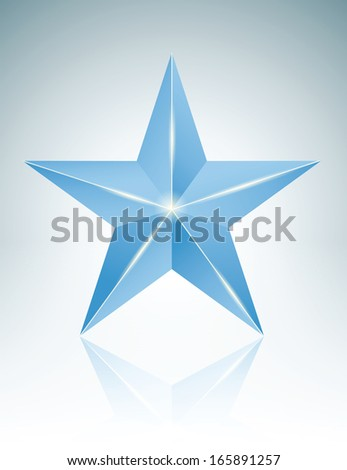 blue star - stock vector
