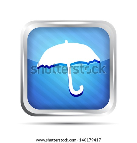 Blue striped forecast icon on a white background - stock vector