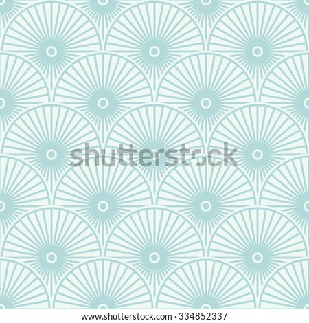 Blue stylized floral pattern. Vector illustration - stock vector