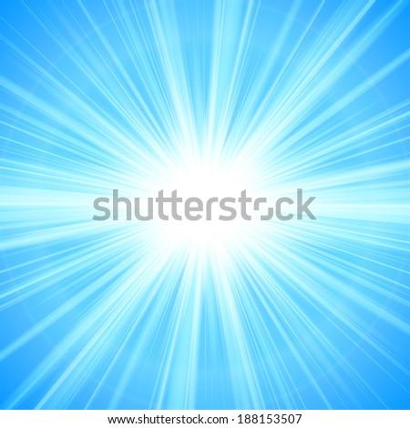 blue Sun theme abstract background - vector illustration. - stock vector