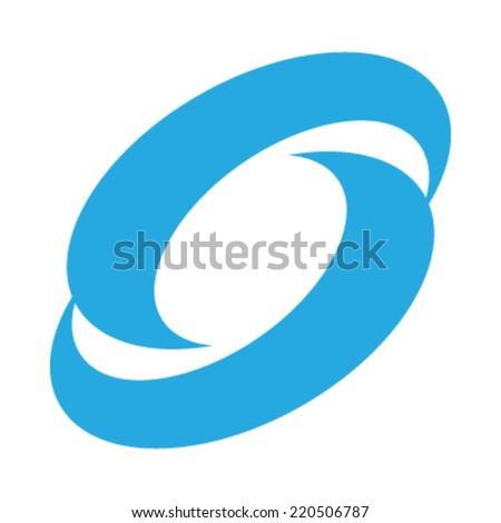 Blue swooshes vector icon - stock vector