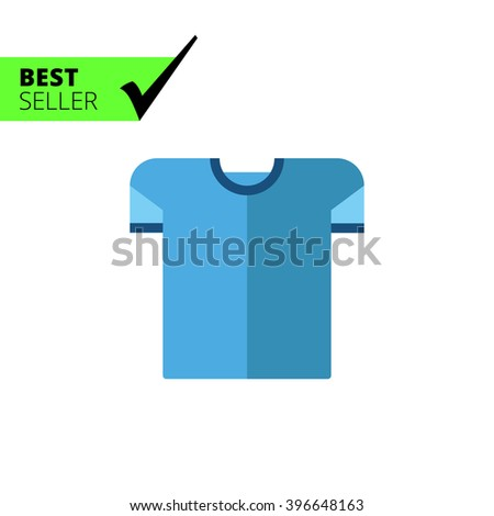 Blue t-shirt icon - stock vector
