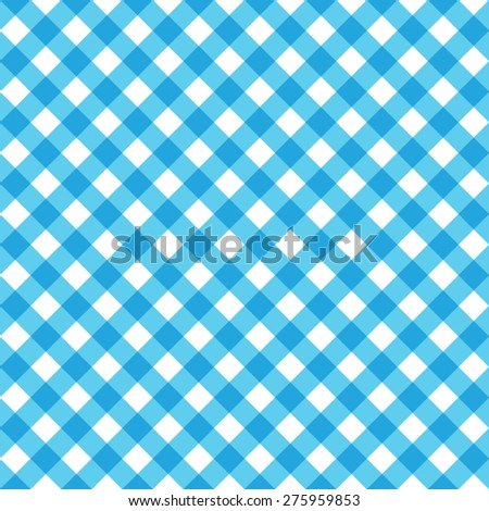 Blue Tablecloth Multiply Colors Pattern - stock vector