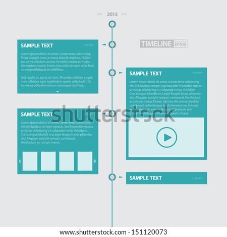 Blue Timeline Infographics / EPS10 Vector Illustration / - stock vector