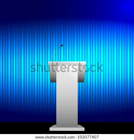 Blue tribune vector background - stock vector