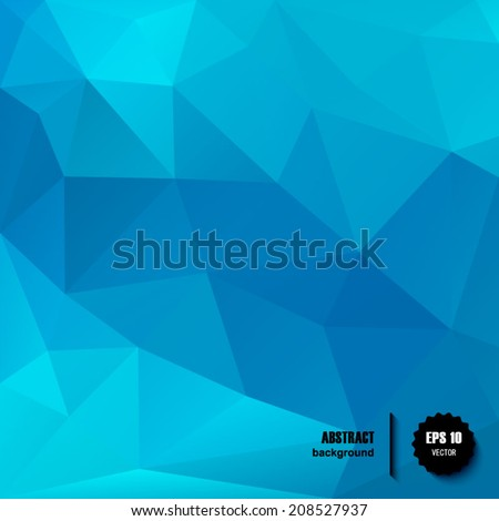 Blue Vector geometric pattern with geometric shapes, rhombus. That square design has the ability to be repeated or tiled without visible seams. EPS10. - stock vector