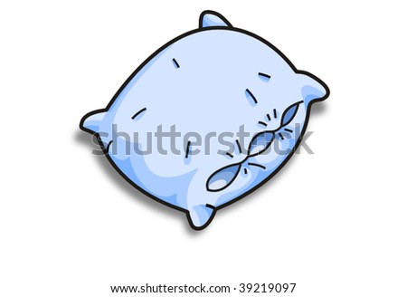 blue vector pillow - stock vector