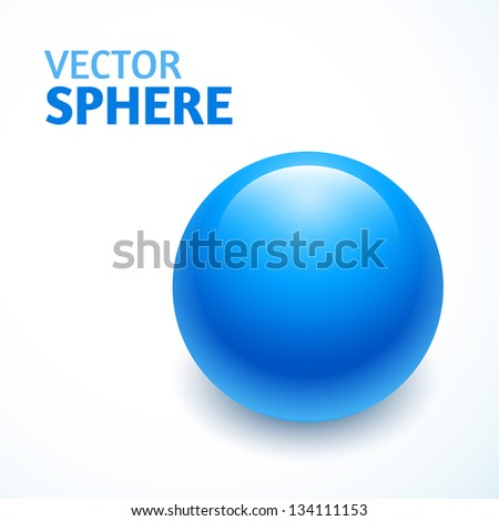 blue vector sphere isolated - stock vector