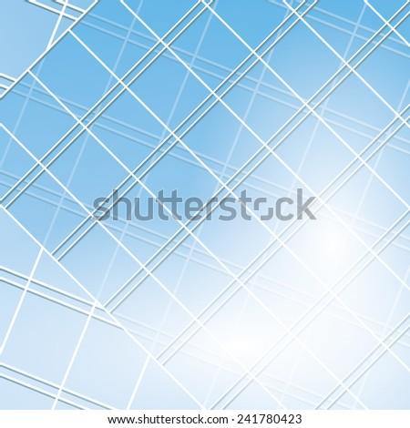 blue vector windows on modern buildings - eps 10 - stock vector