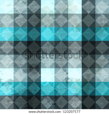 blue vintage rhombuses seamless pattern - stock vector
