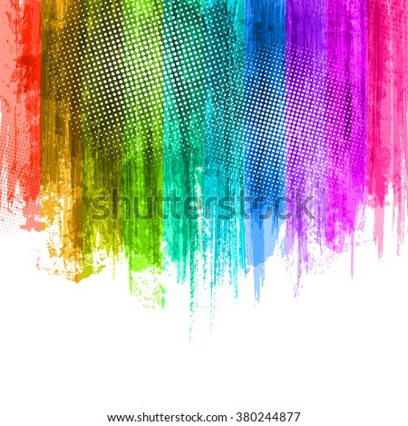 Blue Violet Paint Splashes Gradient Background. Vector eps 10 Design Illustration with Place for Your Text and Logo. Presentation Background - stock vector