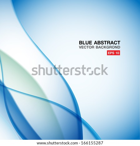Blue wave abstract background design - stock vector