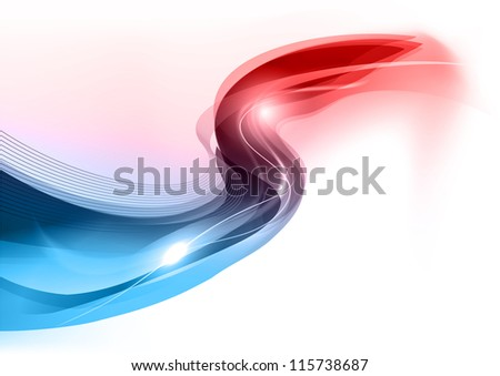 blue wave on the white background - stock vector