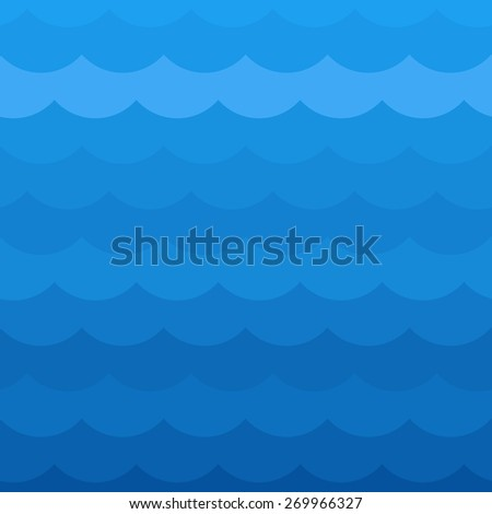 Blue wave pattern. Vector illustration - stock vector