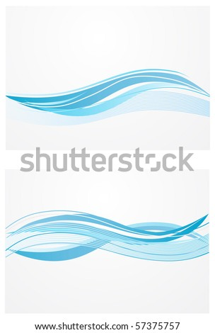 blue waves background - stock vector