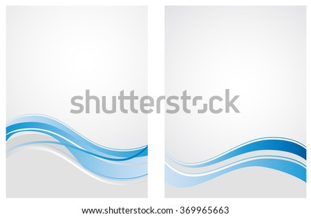 blue waves pattern abstract background - stock vector