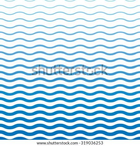 Blue wavy pattern - stock vector
