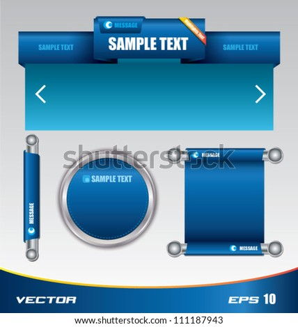 Blue web template and tag bar, can use for business concept, education diagram, brochure object. - stock vector