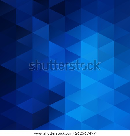 Blue White Bright Mosaic Background, Creative Design Templates - stock vector
