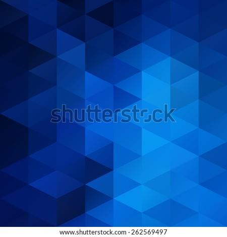 Blue White Bright Mosaic Background, Creative Design Templates - stock vector