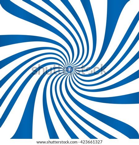 Blue white spiral vector illustration. - stock vector