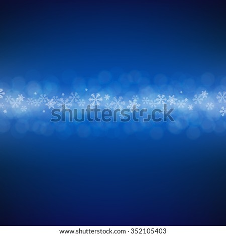 Blue Xmas Postcard With Gradient Mesh, Vector illustration - stock vector