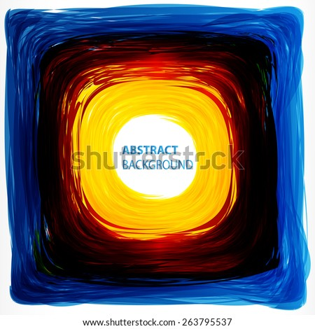 blue yellow red Abstract acrylic hand painted background. Light Technology background for computer graphic website internet business. text box. card. banner. label. Brochure. vector. illustration. - stock vector