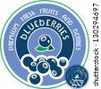 Blueberries label. Vector blueberries sign. - stock vector