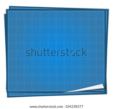Blueprint paper, vector eps10 illustration - stock vector