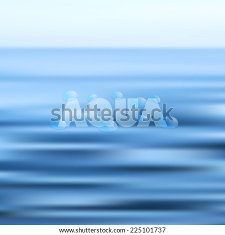 Blurred aqua background with water ripples. Vector - stock vector