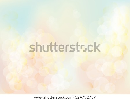 Blurred bokeh pastel lights background Abstract background with pastel colors bokeh.  The esp file contains gradient mesh. - stock vector