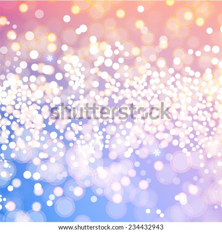 Blurred Christmas Lights for Xmas Holiday Design. Abstract Vector Illustration - stock vector