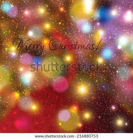 Blurred colorful christmas lights background  - stock vector