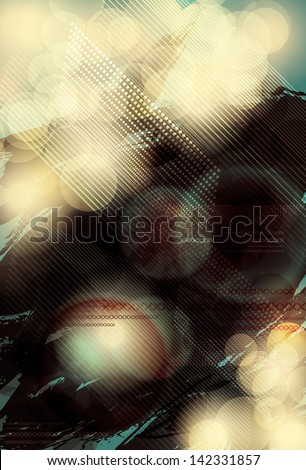 Blurry and bright abstract light effect background - stock vector