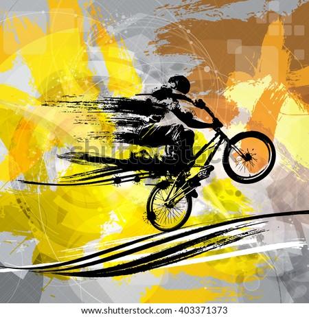 BMX biker - stock vector