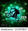 BMX cyclist - stock vector