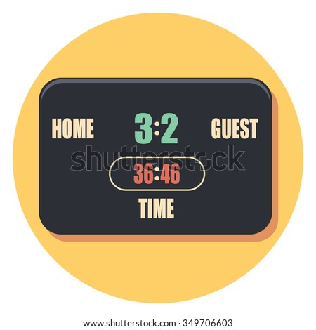 board circle icon with shadow - stock vector
