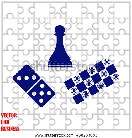 Board games icon. Board games vector. Puzzle background. - stock vector