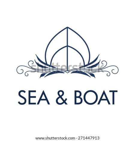 Boating Logo - Brand Identity for Boat Business - stock vector