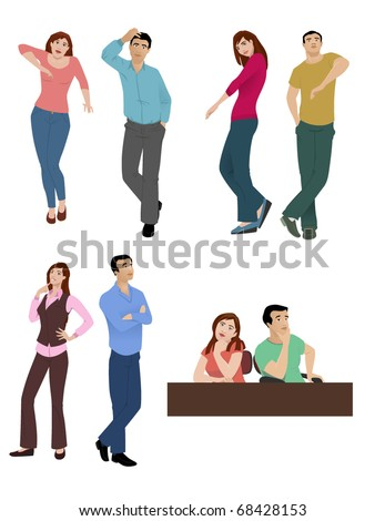 Body Language-vector - stock vector