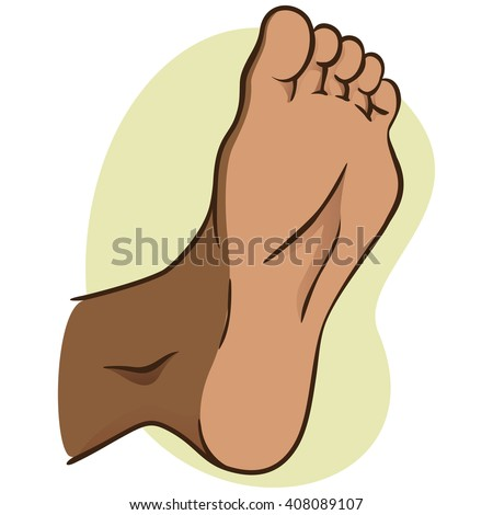 body part illustration, plant or sole of the foot, African descent. Ideal for catalogs, informational and institutional material - stock vector