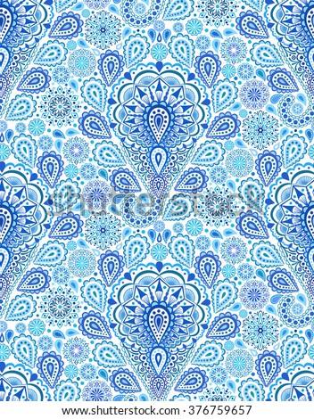 Boho Pattern. Boho seamless, boho vector, paisley boho, boho background, boho design, boho chic, boho print, blue boho pattern. Indigo boho, blue boho, oriental boho, boho ornament. Boho decoration. - stock vector