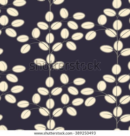 Boho style seamless pattern with floral motifs. Ethnic textile collection.  - stock vector