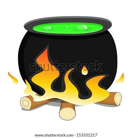 boiler with a potion - stock vector