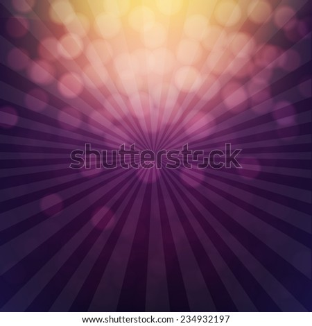 Bokeh Poster With Gradient Mesh, Vector Illustration - stock vector