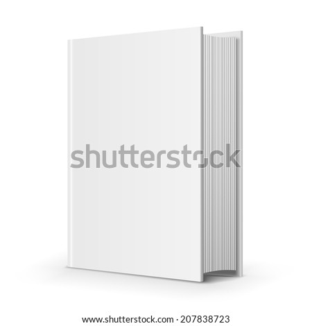 Bold blank book, perpective view on white background, vector illustration - stock vector