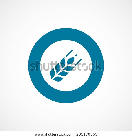 bold blue border circle Agriculture symbol - stock vector
