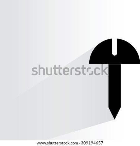 bolt on white background, flat and shadow theme - stock vector