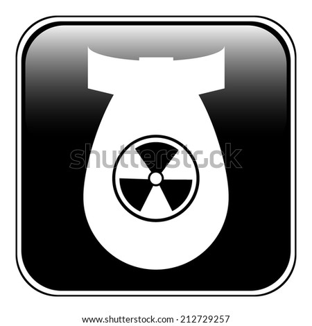 Bomb button on white background. Vector illustration. - stock vector