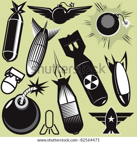 Bomb Collection - stock vector